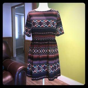 NWOT Maeve Anthropologie Tribal Print Dress